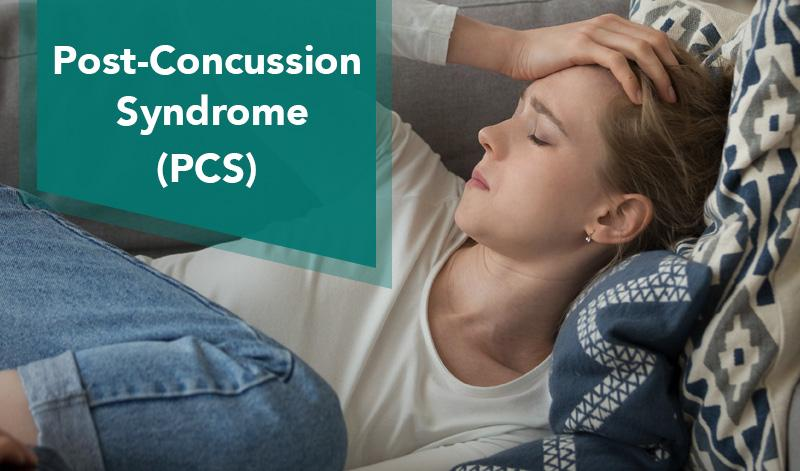 Post-Concussion Syndrome: A women lying on the couch with head pain.